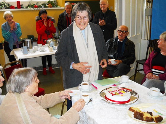 Jean Petts celebrates her 80th birthday